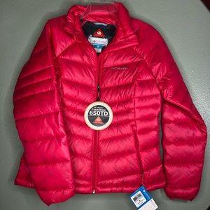 Columbia 650 turbo-down Omni heat jacket women M